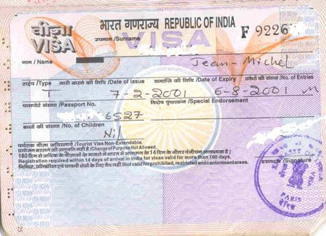 plus de détail sur le site de l ambassade d inde à paris cliquez ici